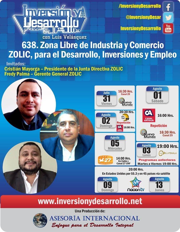 Inversion y Desarrollo con Luis Velasquez 638. Zona Libre de Industria y Comercio ZOLIC