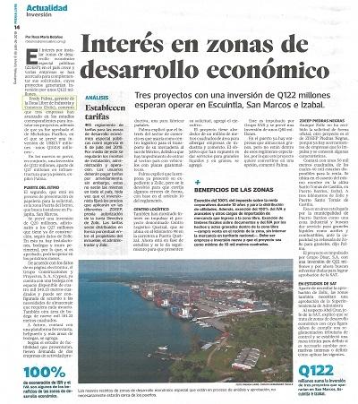 TRES PROYECTOS CON UNA INVERSIÓN DE Q122 MILLONES ESPERAN OPERAR EN ESCUINTLA, SAN MARCOS E IZABAL.