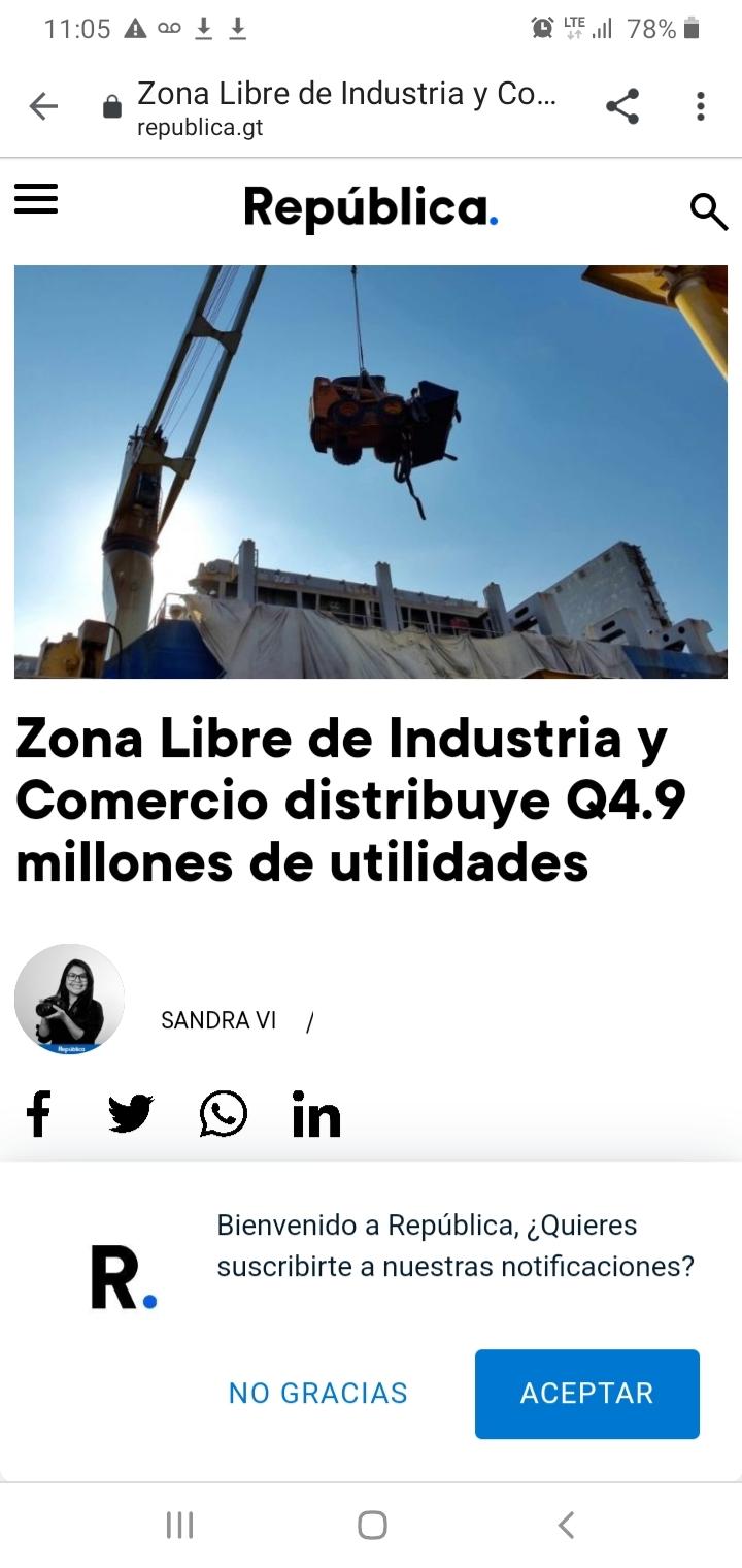Zona Libre de Industria y Comercio distribuye Q4.9 millones de utilidades